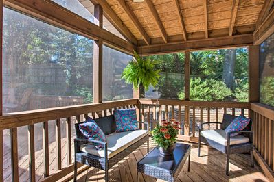 Spend a morning on the screened-in porch.