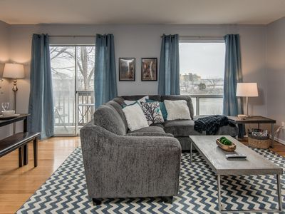 Photo for This beautiful condo is located right on the river!