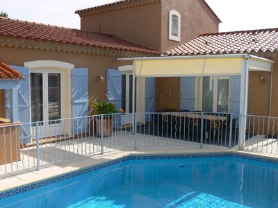 Photo for VILLA, 4 *, HEATED SECURED SWIMMING POOL, 200M OF BEACH AND SHOPS
