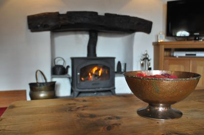 Log Burner to cosy up in front of on cold winter evenings.