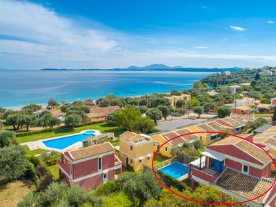 Photo for Villa Pelagos: Private Pool, Walk to Beach, A/C, WiFi, Car Not Required