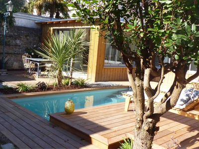 Photo for Heron's Nest: Urban gite with heated pool in the heart of Nantes