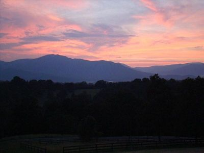 Sunset View Over Old Rag Mountain from Front Porch