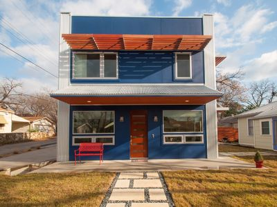 Custom designed, new modern home with two rooftop decks