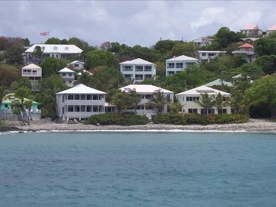 Coconut Coast Villas as seen from the ferry