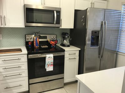 Stainless appliances. Frig has icemaker and filtered water.  Kitchen Aid mixer.