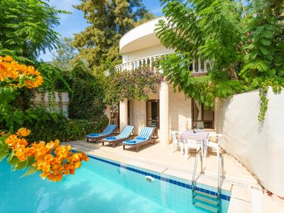 Photo for Villa Margarita: Large Private Pool, Walk to Beach, A/C, WiFi, Car Not Required, Eco-Friendly