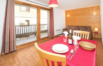 Photo for Beautiful studio for 2 persons. A bright living room with  2 single beds, equipped kitchen with dini