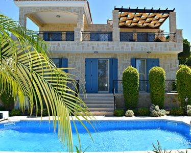 Photo for Latchi - Luxury Villa - 200m Latchi's Blue Flag Beach - Sea Views - Private Pool