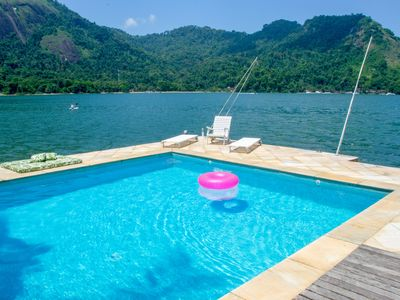 Photo for Get close to the water and the private beach at Villa Palm Angra.