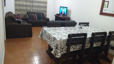 Photo for I rent apartment for season and weekend in the beach of the cove in the guaruja