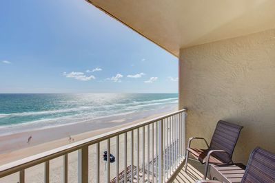 Master bedroom has its own private balcony.