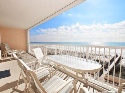 Photo for Direct Ocean View from 4th Floor, Beautifully Upgraded, Beach Service - Ib4009