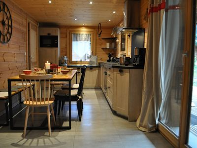 Photo for Apartment in chalet, 2 bedrooms, opposite the slopes of Linga