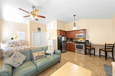 Cozy and convenient - A studio-style home within walking distance of the beach, the Gulf of Mexico, and the restaurants and shops of Times Square, Mangrove Beach Cottage has everything you need for your Fort Myers Beach vacation.