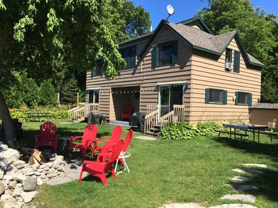 Photo for Cottage on the Bay - Waterfront, 100' Beach, 50ft pier, Sunsets, Secluded, Wi-Fi
