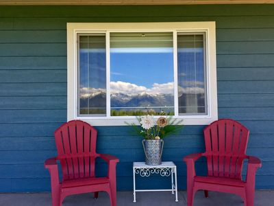 Photo for Home with Beautiful Mountain Views, Minutes to Glacier, Area Lakes, and Skiing