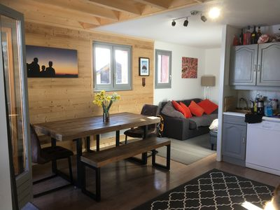 Photo for Apartment Harikoa, sleeps 5, next to piste, Col de M  Sunday to Sunday bookings.