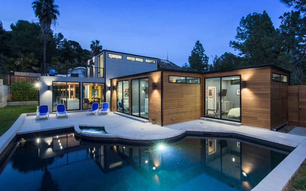 Hollywood Hills Vibrant, Bright and Modern! Hollywood Sign: Pool, Spa,& Luxury