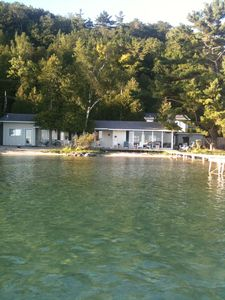 Photo for Updated Lakefront Cottage with 100' Sandy Beach on Crystal Lake