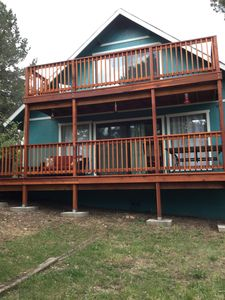 Photo for Cabin Retreat With 4 Decks And 6-7 Person Hot Tub. WiFi And Cable.