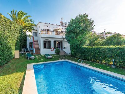 Photo for 3 bed 2 bath villa w/private pool, car advised on outskirts of Son Bou, free WiFi & A/C