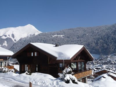 Photo for Ski in ski out +Morzine center +panorama: Chalet Skadi is the perfect location!