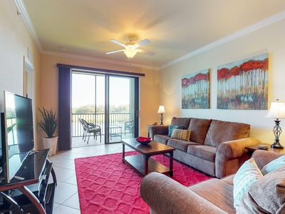 Photo for NEW LISTING! Waterfront condo in gated community w/ shared pool, tennis, & golf