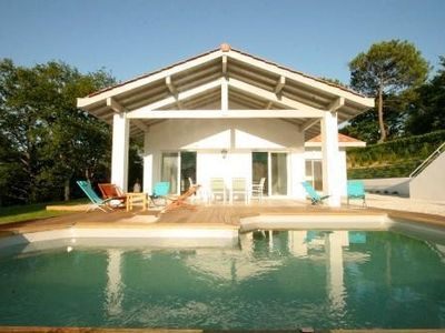Photo for beautiful house, Biarritz Arcangues, heated pool, 4 bedrooms, playpen