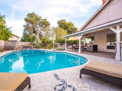 Photo for Killer Backyard with Refreshing Pool and Outdoor Bar. Sleeps 9