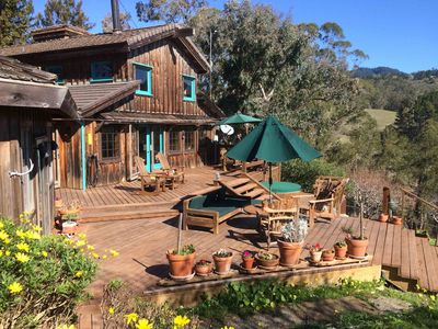 Photo for A secluded retreat in the redwoods and near beaches in Half Moon Bay