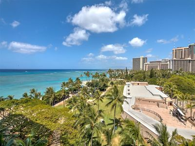 Photo for Homey Condo w/Island Decor, Ocean View, Kitchen Ease, Free WiFi–Waikiki Shore #812