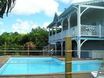 Photo for Ferry Deshaies Villa pool view caribbean sea beach 350m 10 pers.
