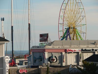 View from balcony of pier rides