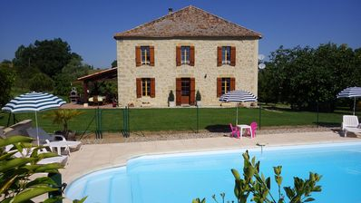 Photo for Beautiful 17th century stone house with private fully fenced grounds and pool
