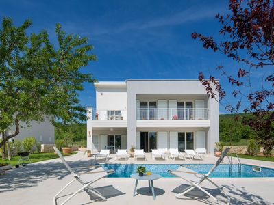 Photo for This 4-bedroom villa for up to 9 guests is located in Rabac and has a private swimming pool, air-con