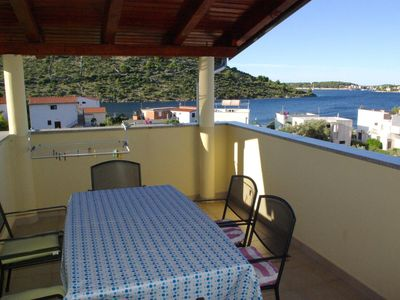 Photo for Two bedroom apartment with terrace and sea view Stupin Čeline (Rogoznica)