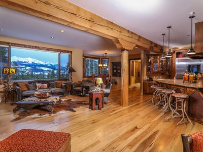 Photo for Beautiful Lodge features Stunning Panoramic Views, Privacy & Open Floor Plan!
