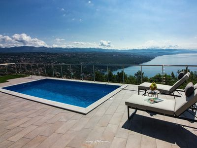 Photo for Beautiful villa with spectacular sea view