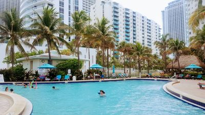 Photo for Beach front Apartment, pool, parking 3