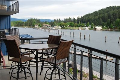 Peaceful deck views all day.