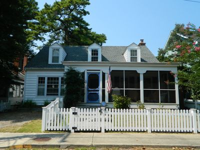 Photo for OCEAN  BLOCK COTTAGE WITH GREAT SCREENED PORCH!