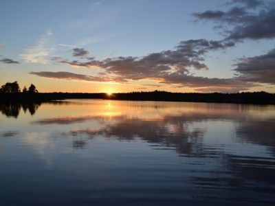 Photo for Cottage directly on the lake Tiken at Tingsryd incl. Boat in Småland