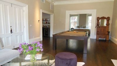 Parlor Living Room with Pool table