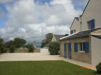 Photo for House seafront, granite on the Peninsula Rhuys, with pool - Logeo