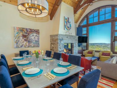 Photo for Stunning & colorful, newly decorated luxury townhome with modern touches, ski in ski out access with