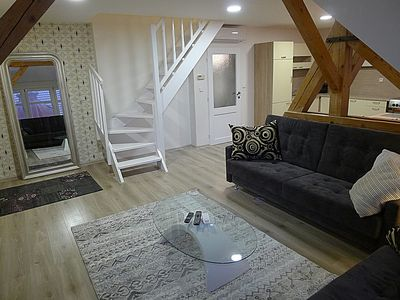 This fully renovated large apartment is located  steps to Old Square at Prague.