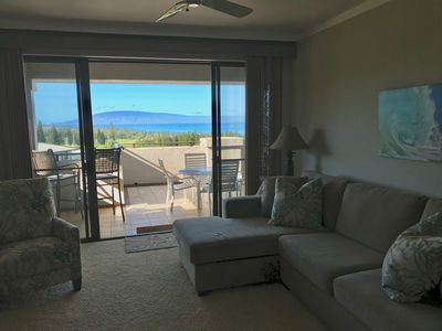 There are ocean views from the living room which leads out to the large lanai!