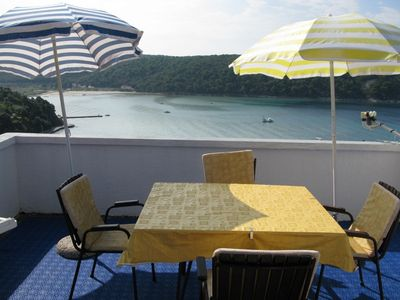 Photo for Holiday apartment with terrace and balcony with sea view