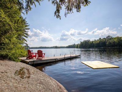Photo for Beautifully decorated family cottage on Dickie Lake near Baysville